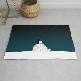 Star gazing - Penguin's dream of flying Rug