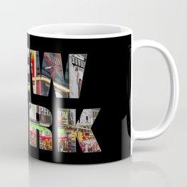 New York (photo type on black) Coffee Mug