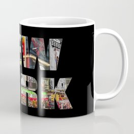 New York (photo type on black) Coffee Mug