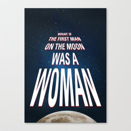 What if - 50 Years Moonlanding Canvas Print