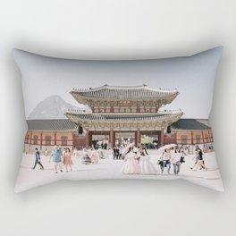 Gyeongbokgung: Korean Palace Rectangular Pillow