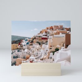 The Hills Have Windows   Santorini, Greece Mini Art Print