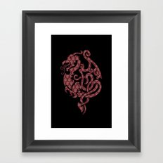 Modern Damask 2 Framed Art Print