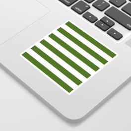 Simply Stripes in Jungle Green Sticker