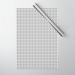 Black and White Grid Graph Wrapping Paper