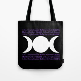Moon Triple Goddess - Maiden Mother Crone Tote Bag