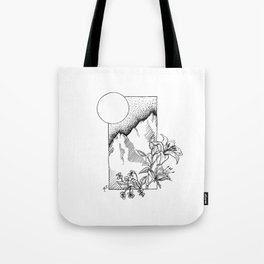 Lillies and Violets Tote Bag