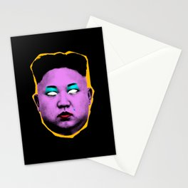 Divine Kim Jong Un from Outer Space Stationery Cards