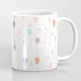 Pastel Party Balloon Vector Pattern Seamless Coffee Mug