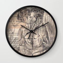 Morning Kiss Wall Clock