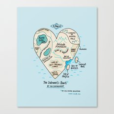 The Introvert's Heart Canvas Print