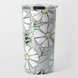 Bees and cosmos flowers Travel Mug