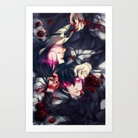 kuroshitsuji Art Prints featuring Black Butler by 1MI0