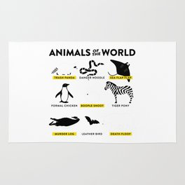 Animals the world Rug