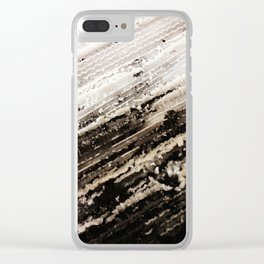 Winter Snow Temporary Abstractions no. 2 Clear iPhone Case