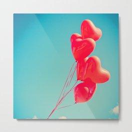 Hearts begin to float Metal Print