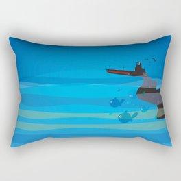 go humans! Rectangular Pillow
