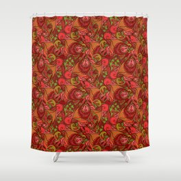 Indian-pattern Shower Curtain