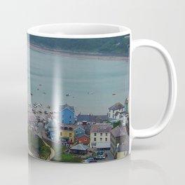 Looking down on New Quay (Wales) Coffee Mug