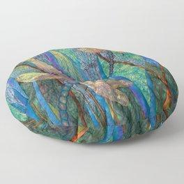Colorful Dragonflies Floor Pillow