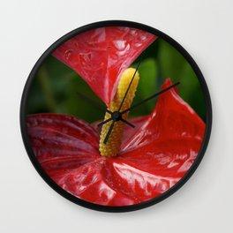 anthurium Wall Clock