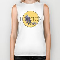 houston Biker Tanks featuring HOUSTON by Lauren Jane Peterson