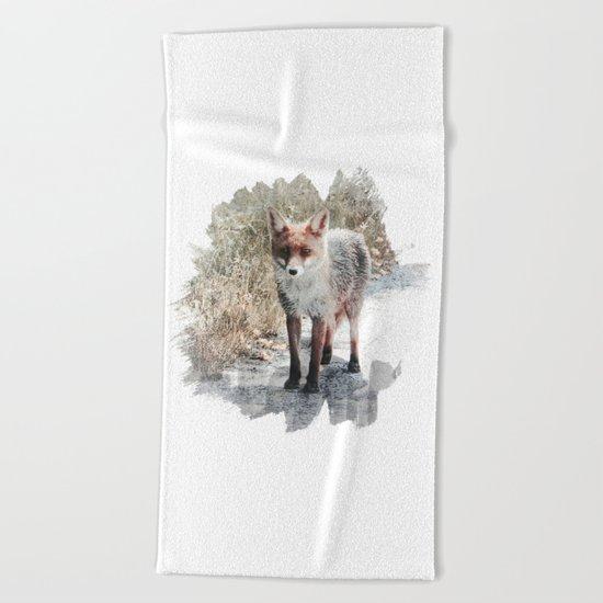 How I met a Fox Beach Towel