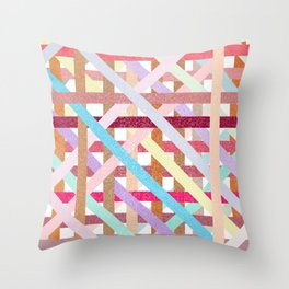 Structural Weaving Lines Throw Pillow
