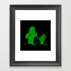 Cactus Scissorhands Framed Art Print