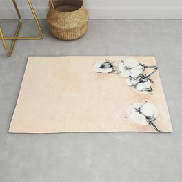Cotton Flower on rice paper Rug