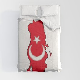 Turkey Map with Turkish Flag Comforters