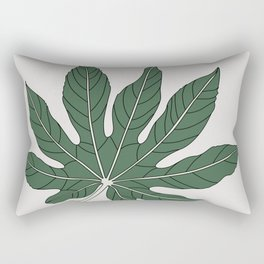 Aralia Leaf Illustration Rectangular Pillow