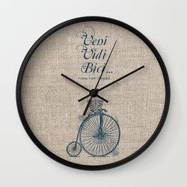 Veni. Vidi. Bici Wall Clock