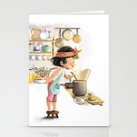 cooking Stationery Cards featuring Cooking by Bumpy