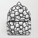 Floral White & Black Pattern by crissphotos