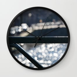 Amsterdam Canal Detail with Bokeh Wall Clock