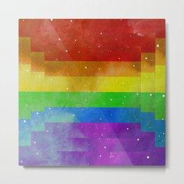 Love is Love Rainbow Flag Metal Print