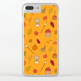 Festively Fall Clear iPhone Case