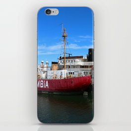 Riverboat Legacy and Fireship Columbia on Columbia River iPhone Skin