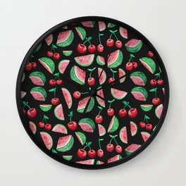 Cherries and Watermelons Wall Clock