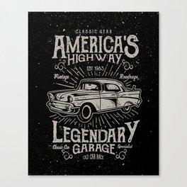 American Highway Star Canvas Print