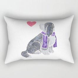 Watercolour Bearded Collie Rectangular Pillow