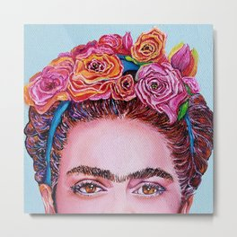 "Frida Kahlo ""I See You"" Metal Print"