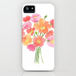 Colorful Iceland Poppies Bouquet iPhone Case