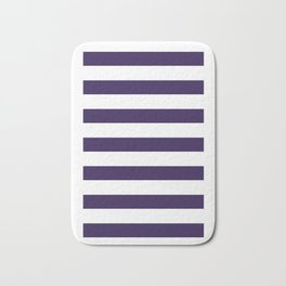 dark purple stripes Bath Mat