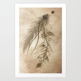 Bohemian Feather Art Print