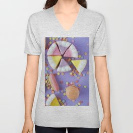 Colorful Gummy Candy Unisex V-Neck