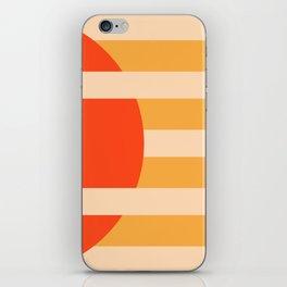 GEOMETRY ORANGE I iPhone Skin