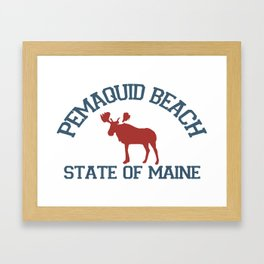 Pemaquid Beach. Framed Art Print