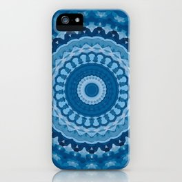 blue mandala 1 iPhone Case